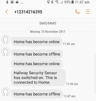 Touch Automation Security SMS